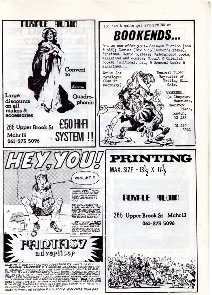 FANTASY ADVERTISER ADVERT IN FRITZ THE CAT COMIC045