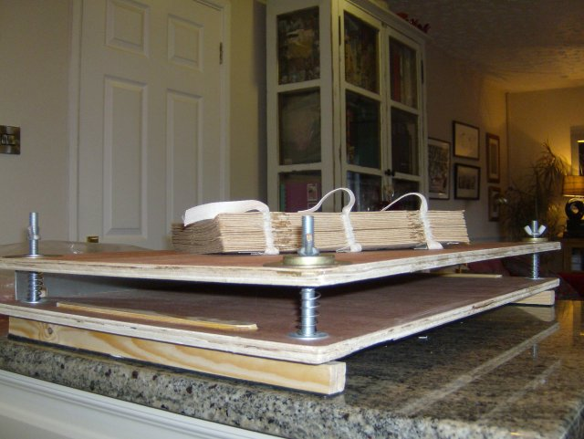 This is my home-made book press.