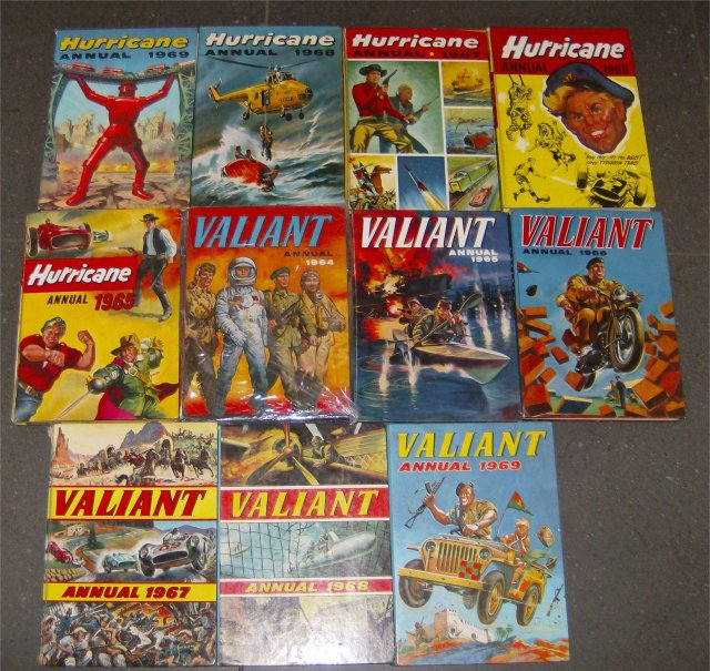 hurricane valiant annuals 1960s