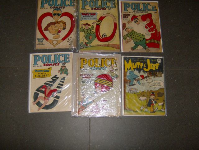 PLASTICMAN  AND MUTT AND JEFF COMICS 1940S