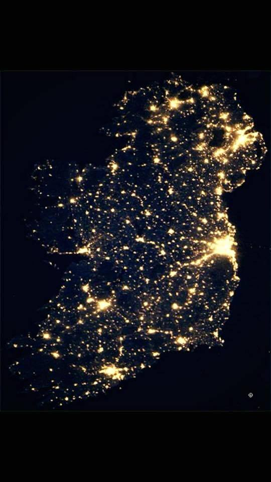 IRELAND AT NIGHT NASA DEC 2015