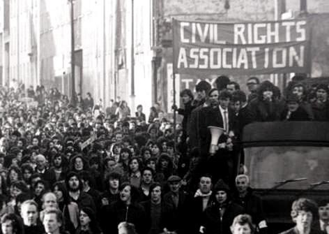 The Northern Ireland Civil Rights Association march on January 30, 1972 which was to become known as Bloody Sunday.